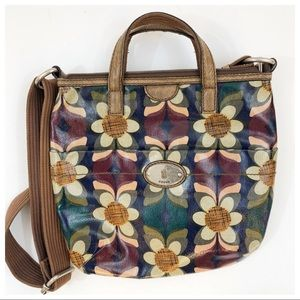 Fossil Floral Crossbody Purse